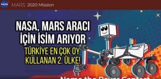 NASA Mars aracı için isim arıyor: Türkiye 2. ülke