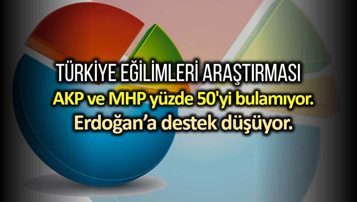 Türkiye Eğilimleri araştırması: Cumhur İttifakı yüzde 50 yi bulamıyor