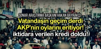 Vatandaşın geçim derdi AKP'nin oylarını eritiyor; iktidara verilen kredi doldu