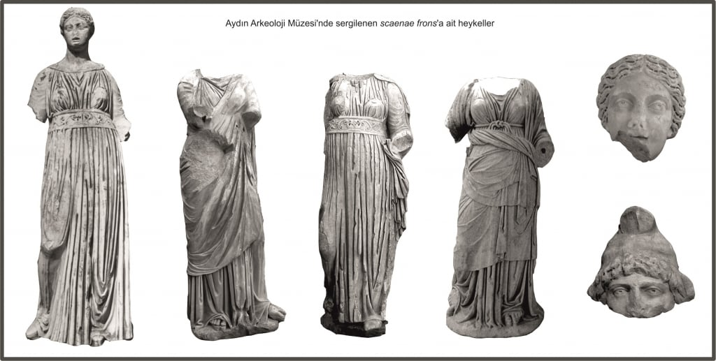 tiyatro sahne binası heykeller aydın arkeoloji müzesi