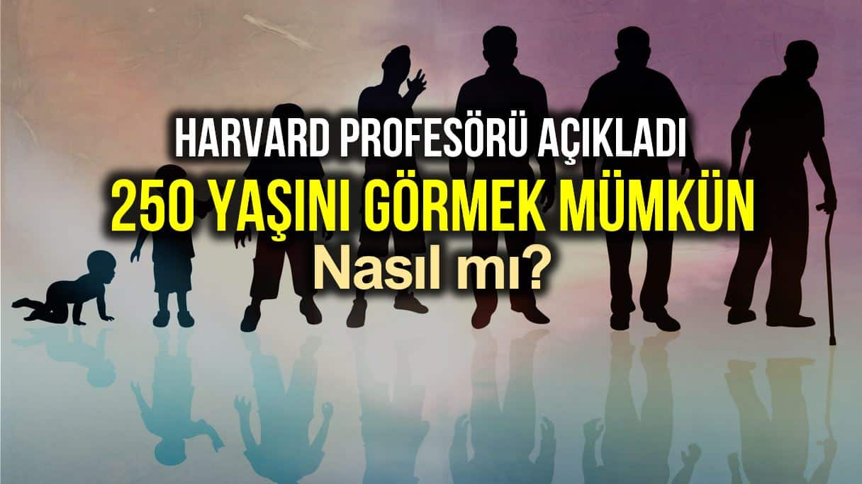 Harvard profesörü: 250 yaşına kadar yaşamak bu şekilde mümkün!