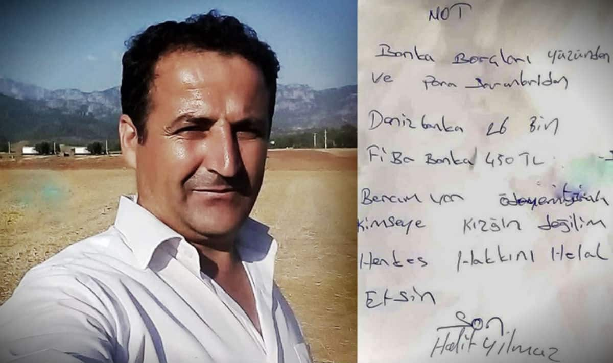 Antalya manavgat halit yılmaz borç mektubu bırakıp intihar etti