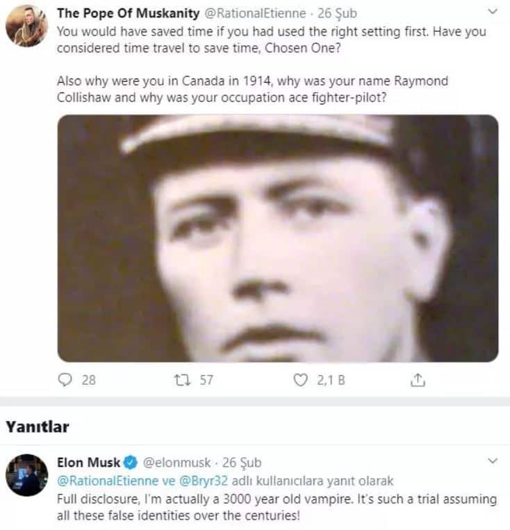 Elon Musk: 3000 yaşında bir vampirim
