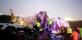 Kaza yapan uçaktaki pilotları kurtarma çalışması sürüyor