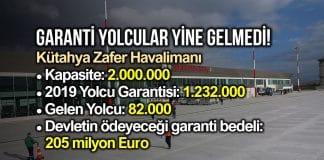 Hazine, Kütahya Zafer Havalimanı için 205 milyon Euro garanti ödeyecek