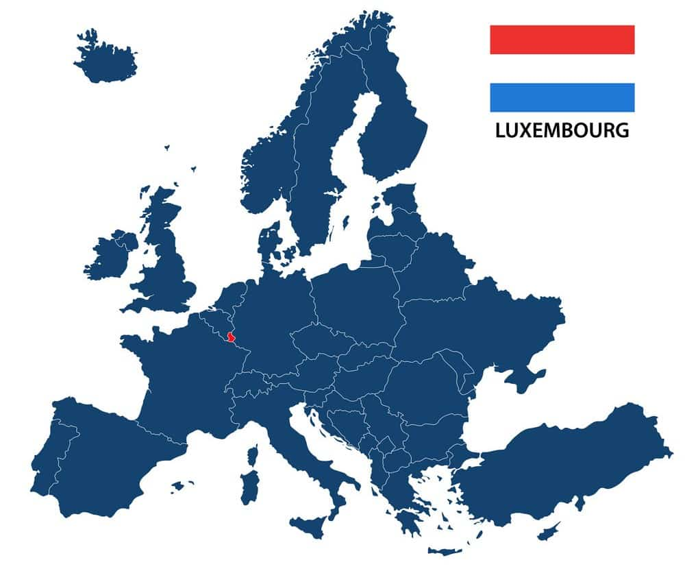 lüksemburg harita