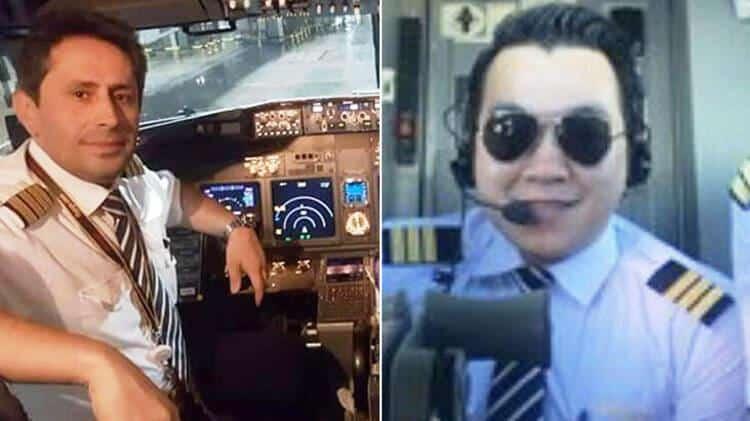 pegasus kazası pilotlar