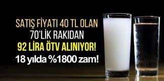 Son 18 yılda rakı fiyatları yüzde 1800 arttı; ÖTV 92 lirayı buluyor!