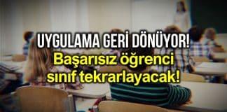 Sınıfta kalma geri dönüyor! Milli Eğitim Bakanı Ziya Selçuk açıkladı