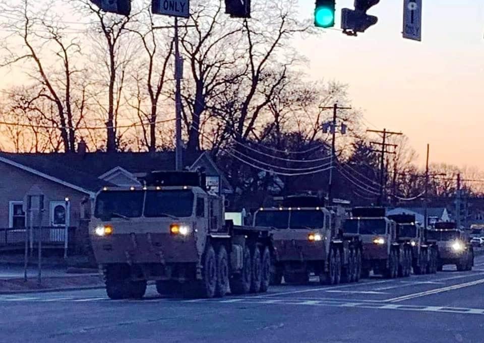 amerikan ordusu asker New York sokaklarında