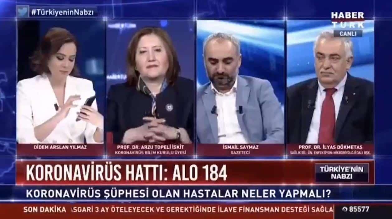 Canlı yayında Alo 184 corona hattını aradı; en yakın sağlık kuruluşuna yönlendirildi haber türk didem arslan yılmaz
