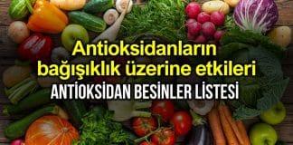 Antioksidanlar bağışıklık sistemi üzerine etkileri neler?