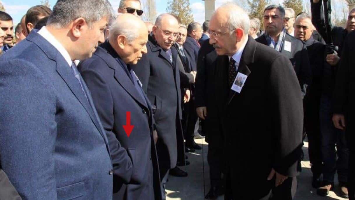 Bahçeli, şehit cenazesinde Kılıçdaroğlu nun elini sıkmadı