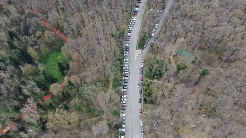 belgrad ormanı uzun araç kuyruğu