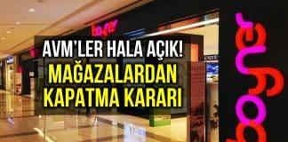 Boyner, Mavi, İpekyol, Twist, Machka, YKM den mağazalarını kapatma kararı