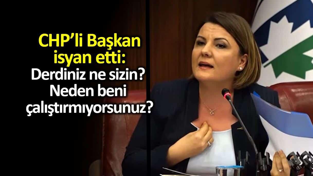 CHP li İzmit Belediye Başkanı Fatma Kaplan Hürriyet isyan etti: Derdiniz ne sizin?