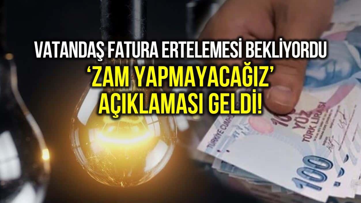EPDK dan açıklama: Elektriğe 3 ay zam yok!