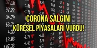 Corona küresel piyasaları vurdu: Borsalar değer kaybetti!
