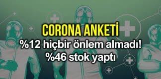 Corona virüsü anketi: Yüzde 12 hiçbir önlem almadı!