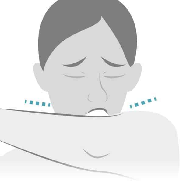 Mendil yoksa kıyafetinizin kol kısmıyla içine doğru yüzünüzü kapatarak öksürmeye veya hapşırmaya dikkat edin.