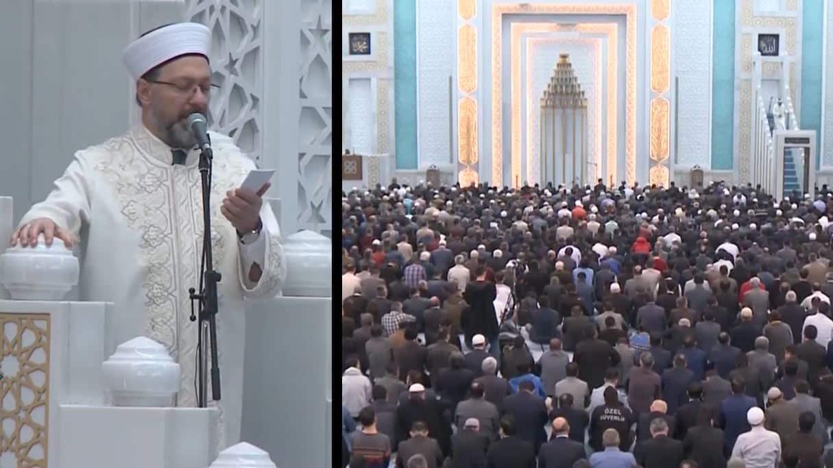Diyanet, Cuma namazı için toplanan kalabalığa kalabalıktan uzak durun çağrısı yaptı