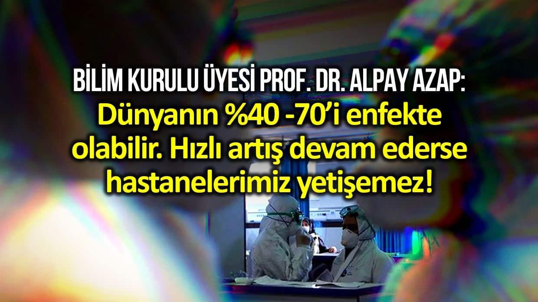 Bilim Kurulu Üyesi Prof. Azap: Koronavirüs hızlı yayılırsa hastaları tedavi etmeye yetişemeyiz!