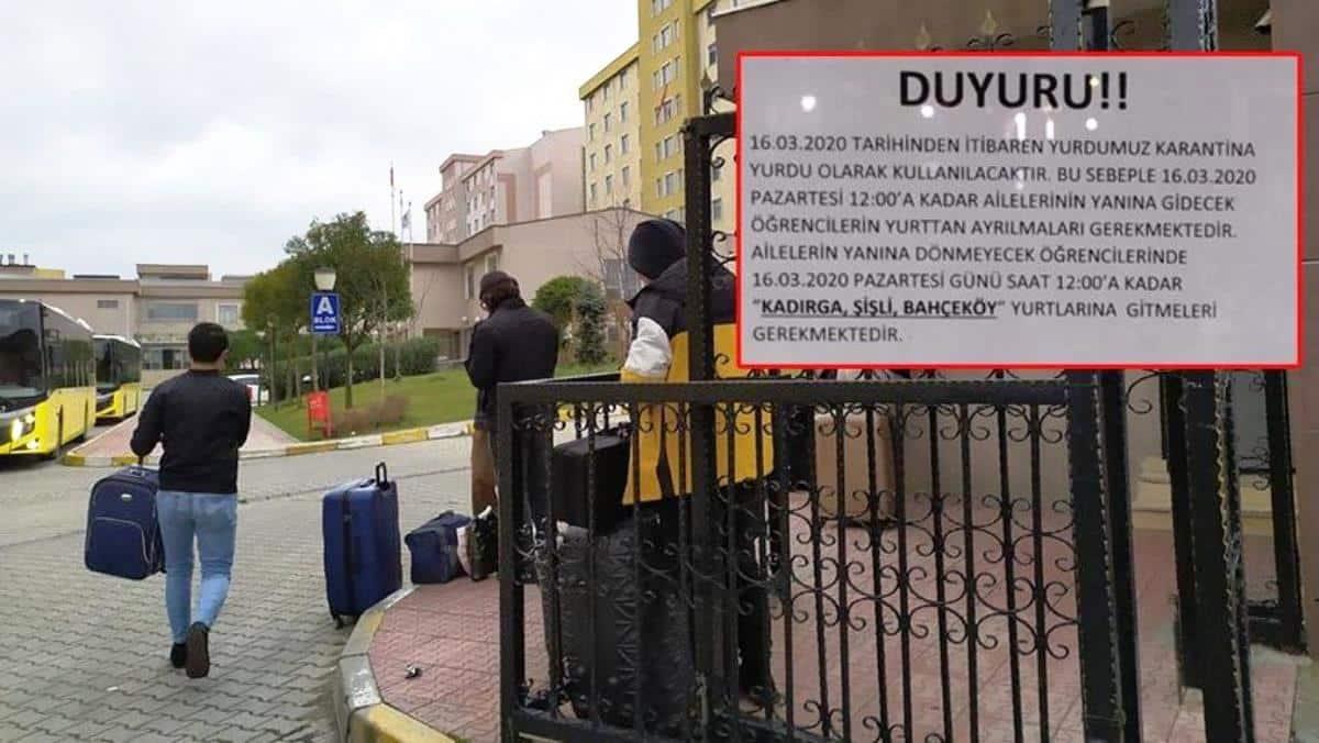 İstanbul da corona hazırlığı: İki öğrenci yurdu boşaltılıyor!