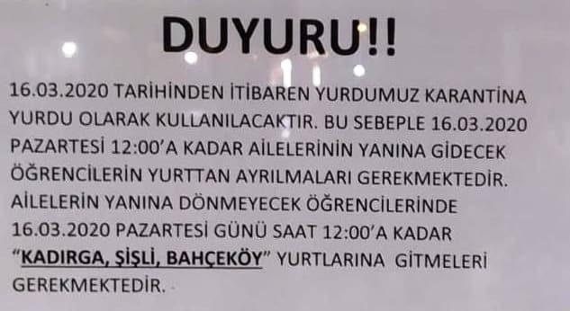 karantina yurdu istanbul