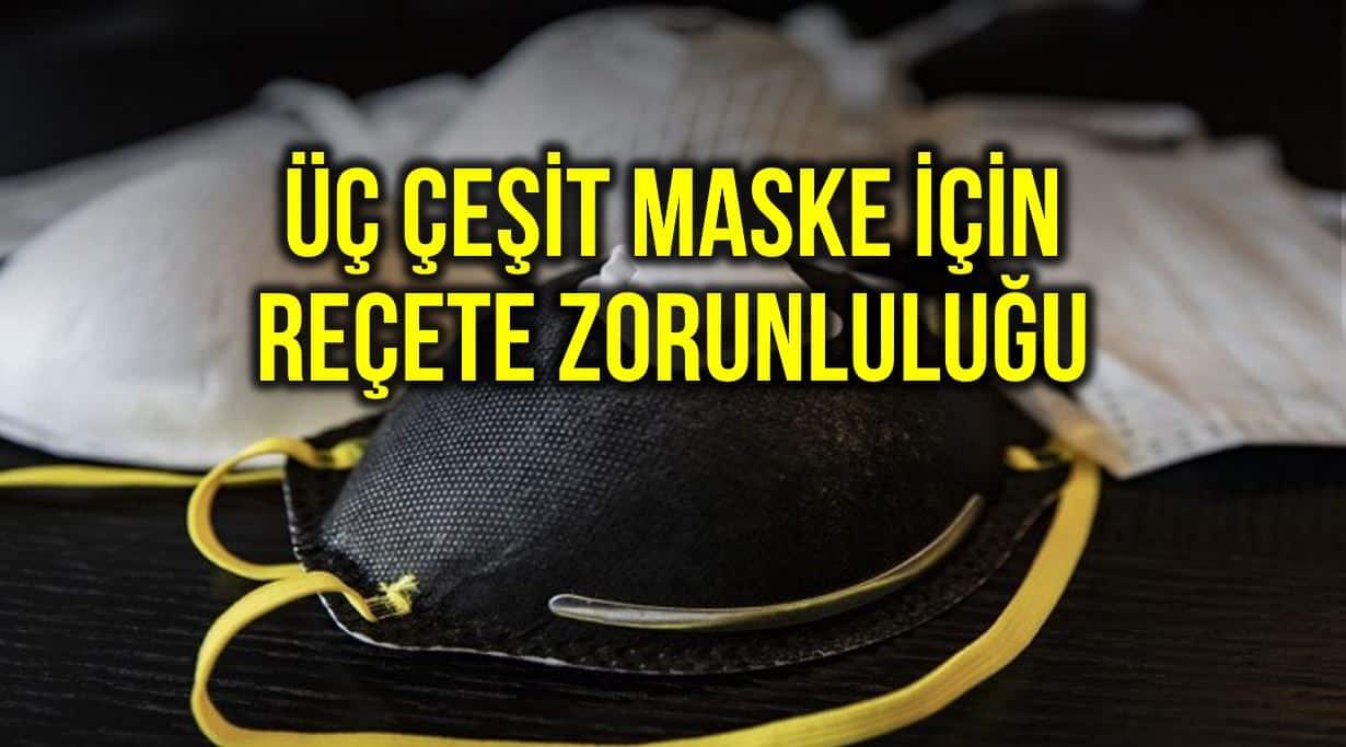 Üç çeşit maske reçete ile satılacak: N95, FFP2 ve FFP3 maskeleri