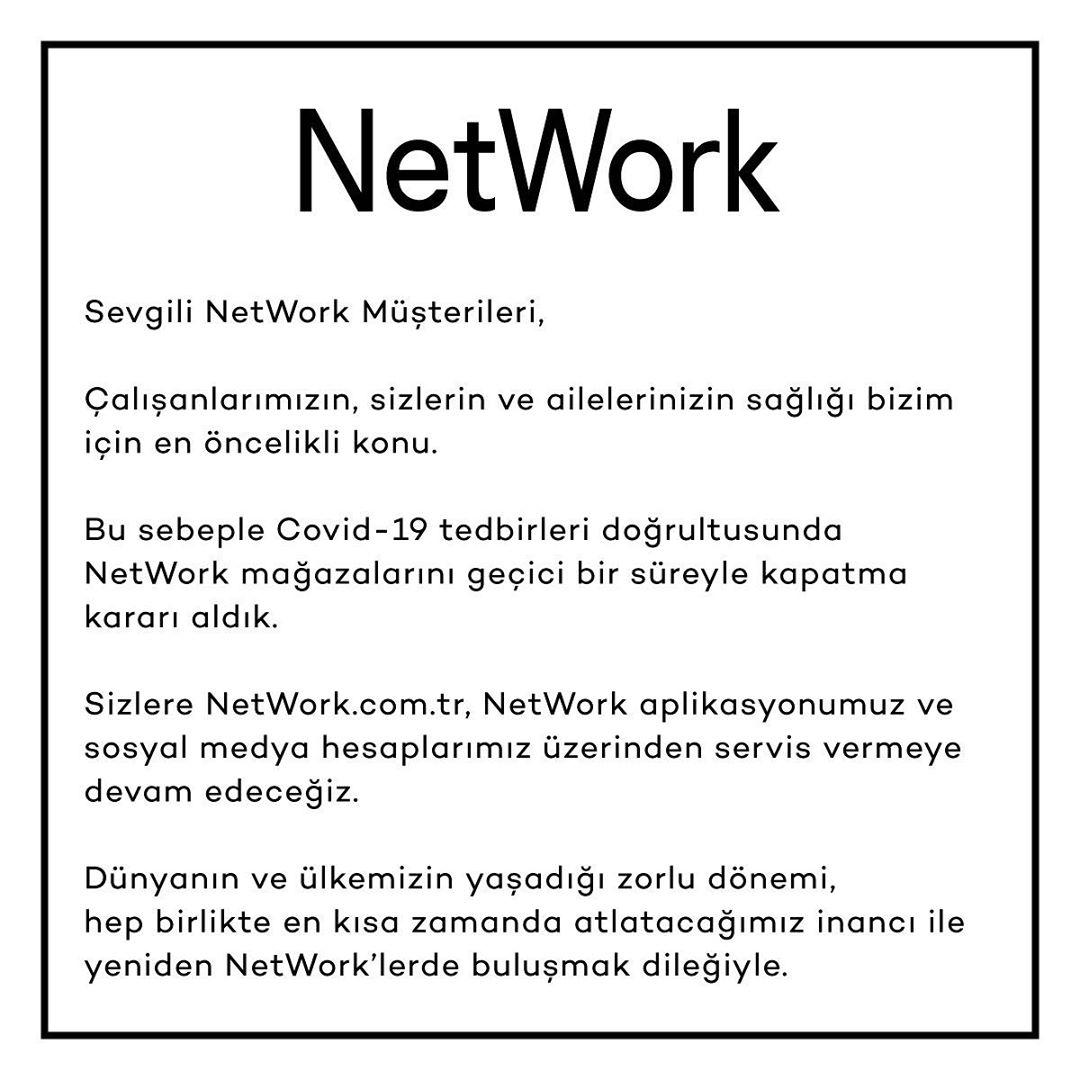 network mağazaları corona kapatma kararı