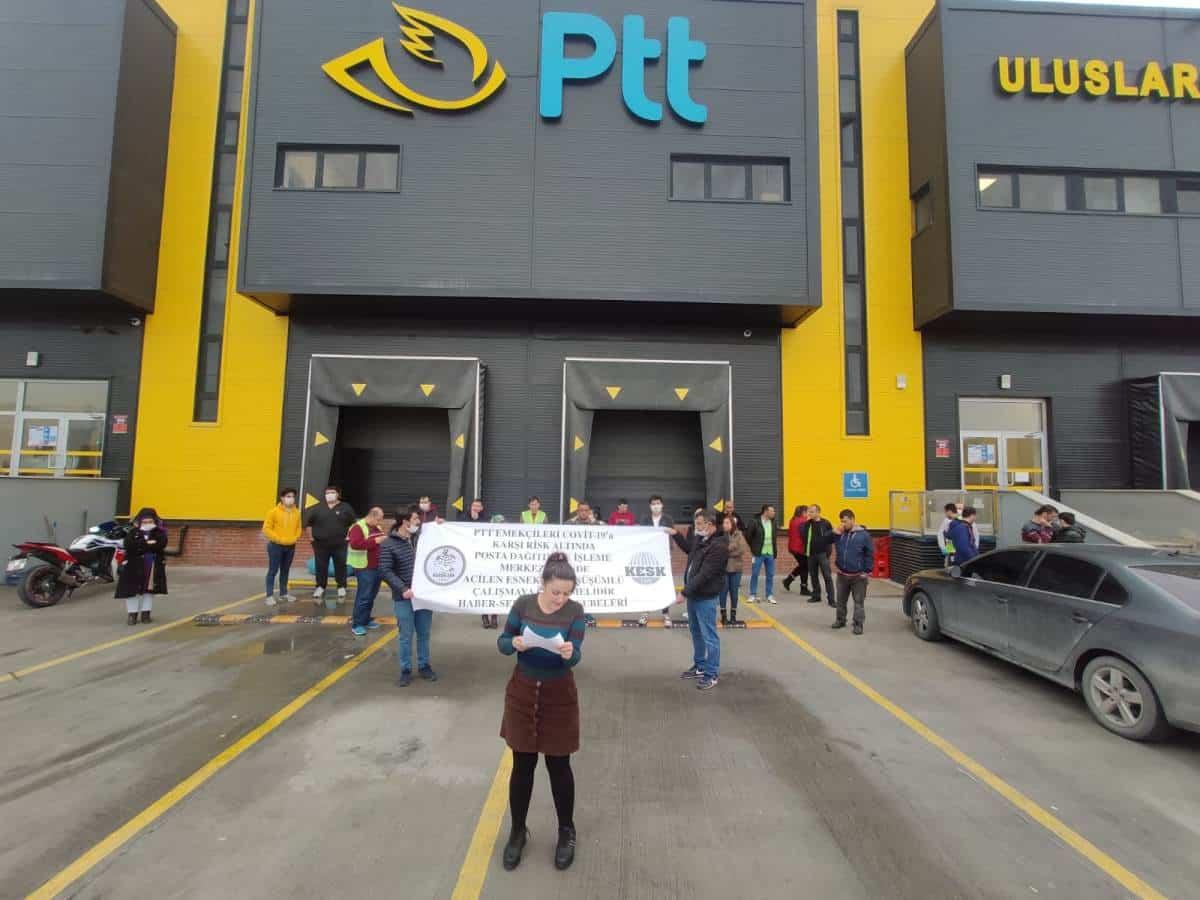 ptt çalışanları izmir protesto corona