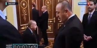Putin in Erdoğan ve Türk heyetini bekletme görüntüleri tepki çekti