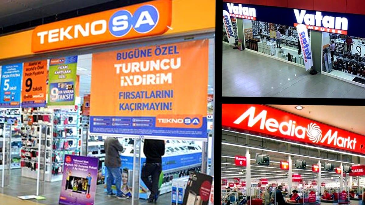 Teknosa, Vatan Bilgisayar ve MediaMarkt mağazalarını kapatıyor!