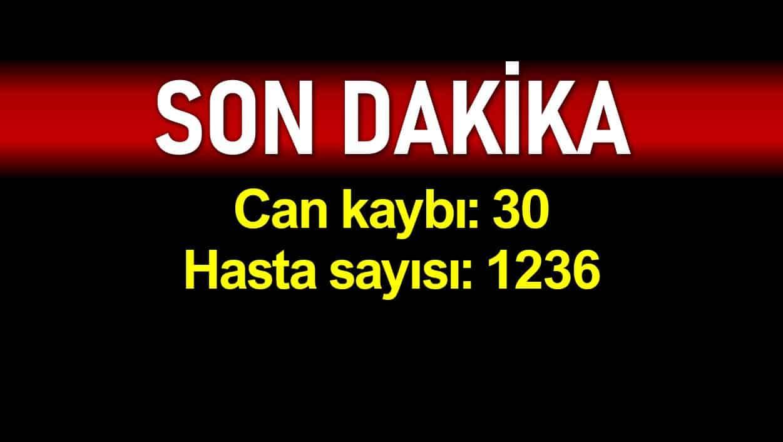 Türkiye de corona virüsü kaynaklı ölüm sayısı 30 hasta sayısı 1236 yükseldi