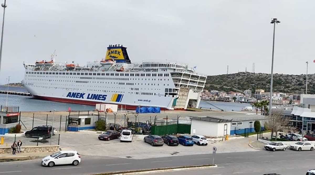 160 Türk mürettebatın bulunduğu gemi Yunanistan da karantinaya alındı