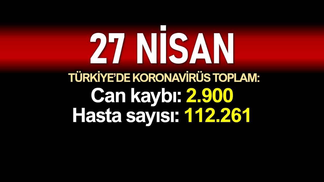 27 Nisan Türkiye corona verileri:2.900 ölü, 112.261 vaka