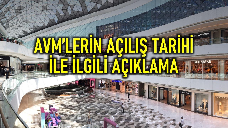 Alışveriş merkezleri (AVM) Mayıs'ta kademeli olarak açılacak!