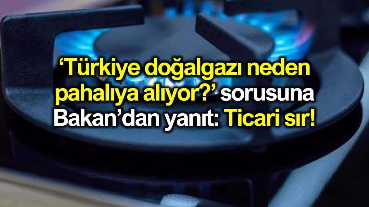 enerji bakanı fatih dönmez Türkiye doğalgazı neden pahalı alıyor sorusuna yanıt: Ticari sır!
