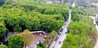 Bursa sokağa çıkma yasağı öncesi kilometrelerce su kuyruğu uludağ