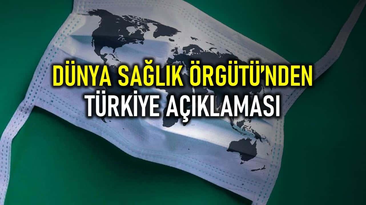 DSÖ den Türkiye deki vaka sayılarıyla ilgili açıklama