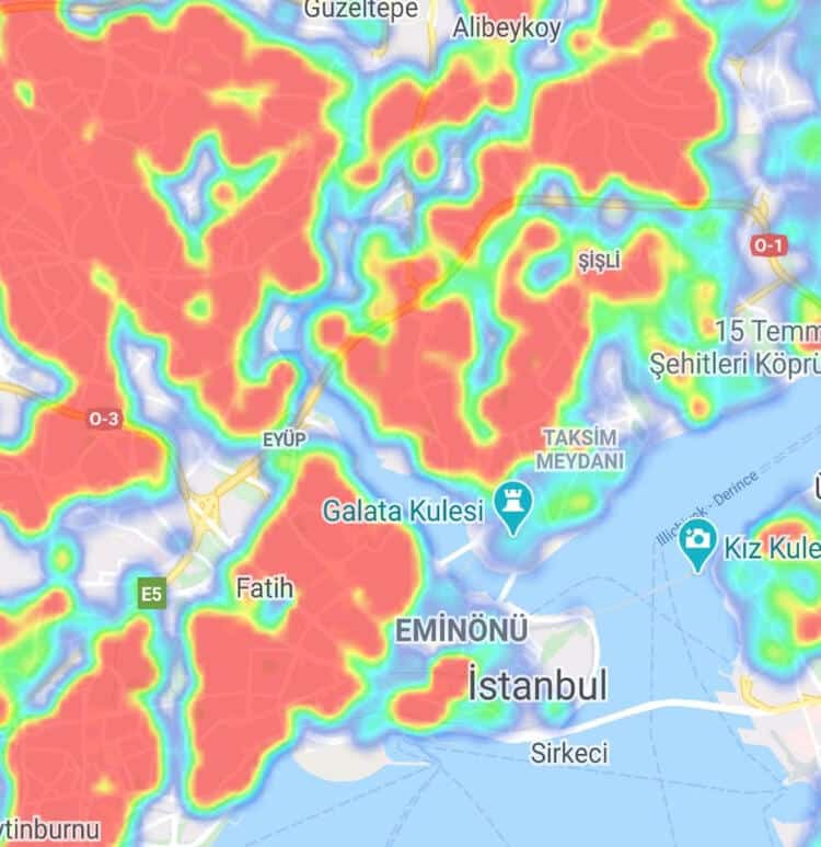 eminönü corona virüsü yoğunluk İstanbul ilçe ilçe corona virüsü yoğunluk haritası