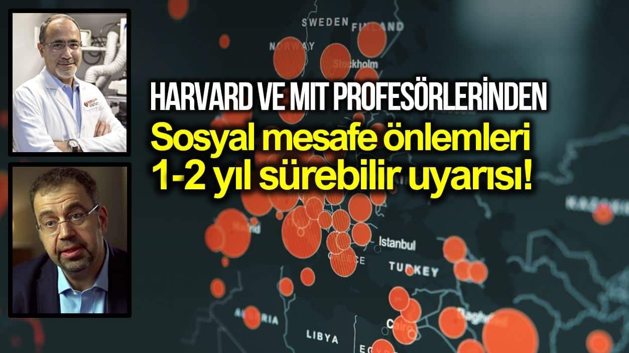 Harvard Gökhan Hotamışlıgil ve MIT profesörü daron acemoğlu Sosyal mesafe 1-2 sene daha sürebilir!
