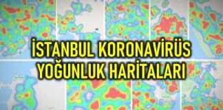 İstanbul ilçe ilçe semt corona virüsü yoğunluk haritaları