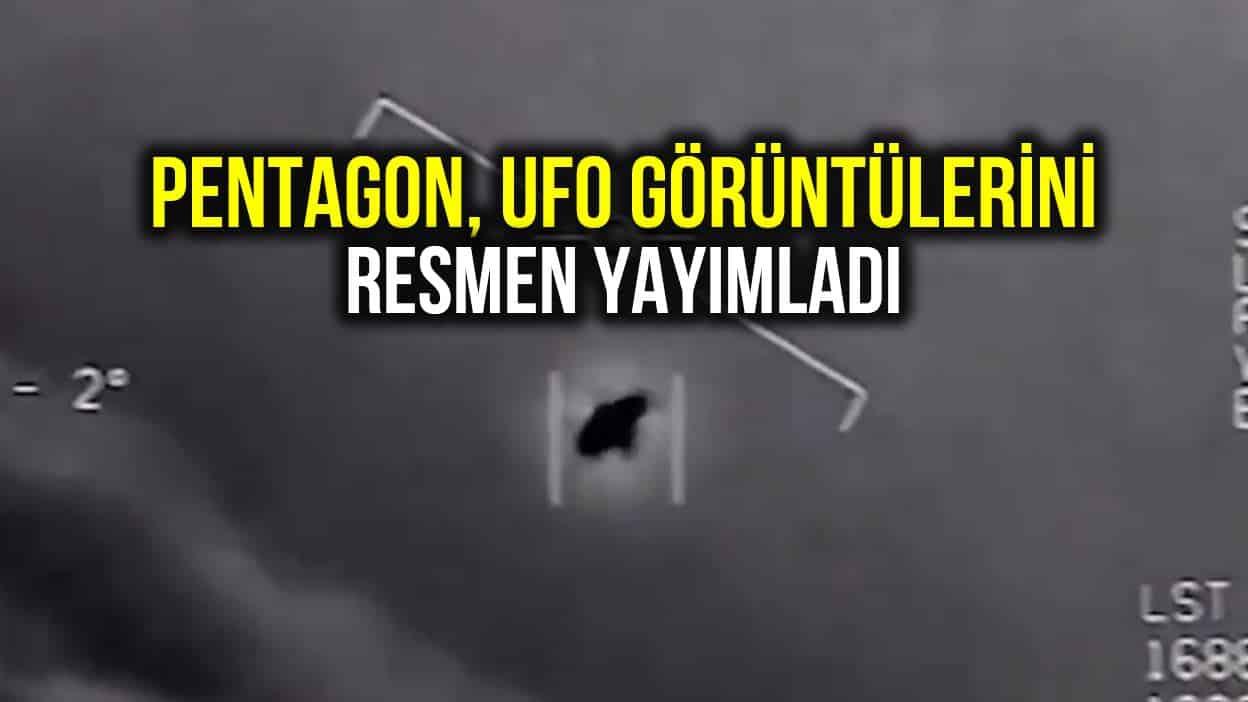 Pentagon UFO görüntülerini resmen yayımladı! video