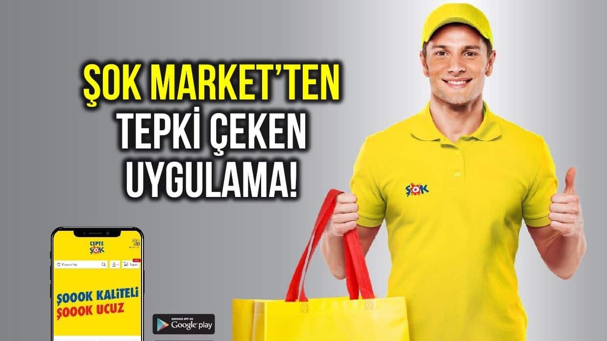 Şok marketler zincirinden tartışma yaratan uygulama!