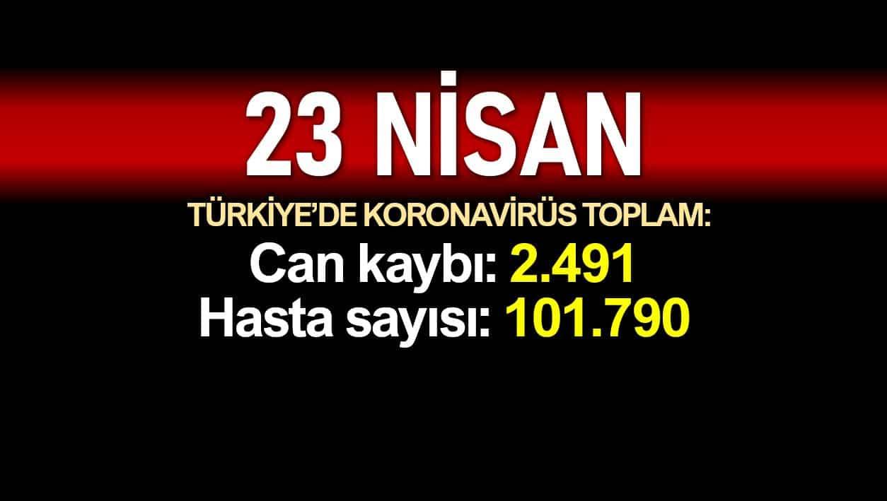 Türkiye corona verileri: Ölüm sayısı 2.491e, vaka sayısı 101.790'a yükseldi