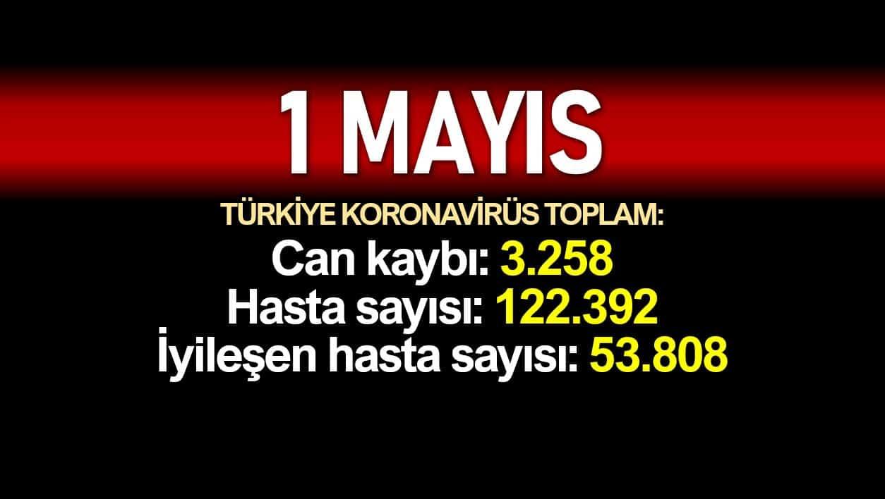 1 Mayıs Türkiye koronavirüs verileri:3.258 ölüm, 122.392 vaka