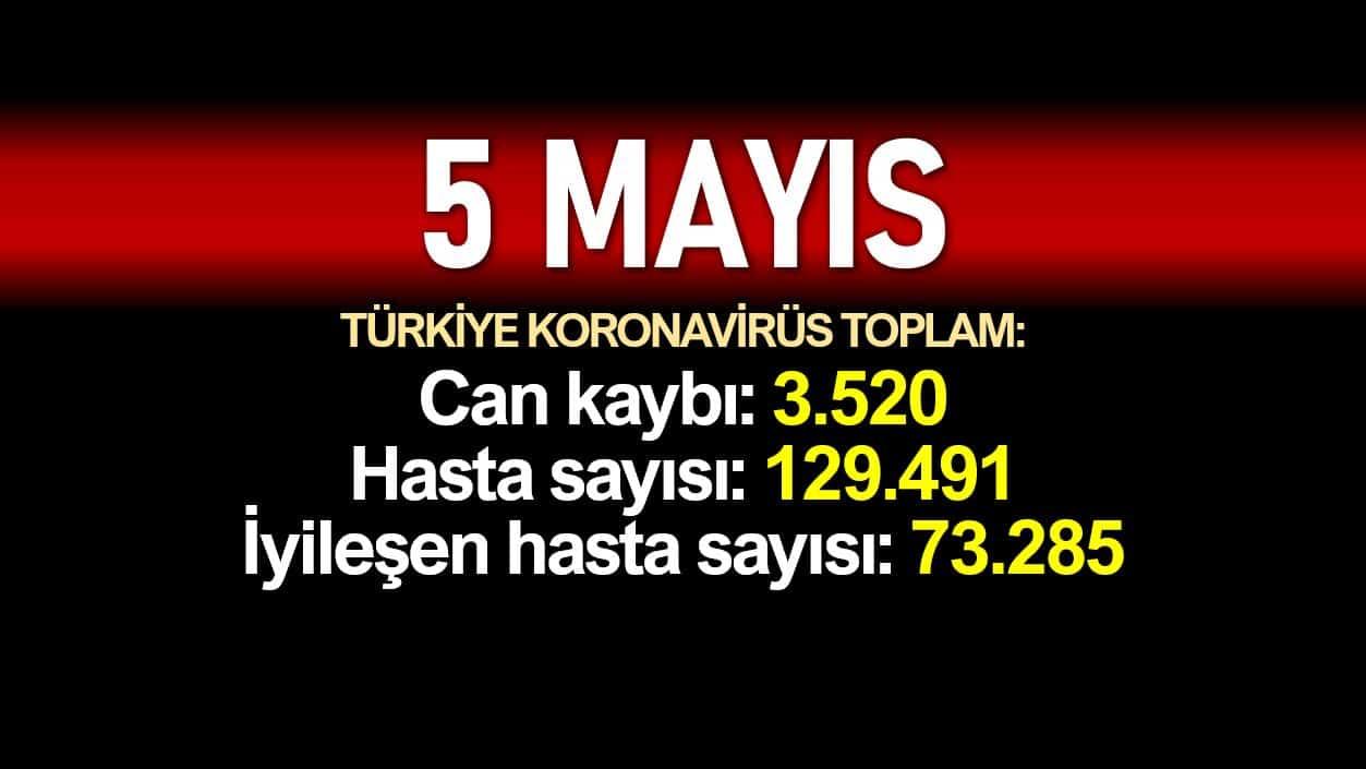 5 Mayıs Türkiye koronavirüs verileri:3.520 ölüm, 129.491 vaka