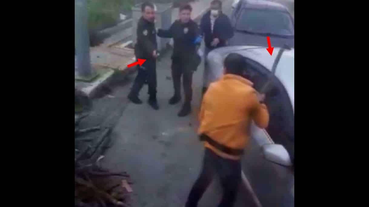 Bekçi sopayla kendisine saldıran kişiyi tabanca ile vurdu