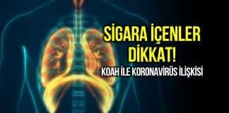 Corona virüsün sigara kullanımı ve KOAH hastalığı ile ilişkisi